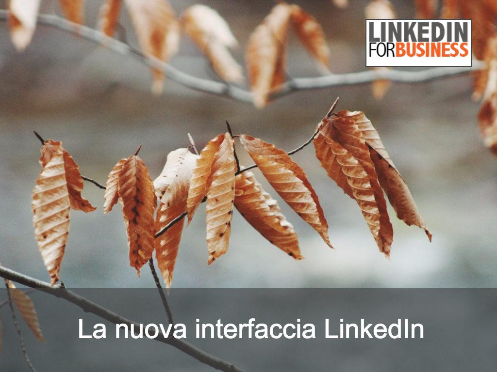La nuova interfaccia LinkedIn: le prime impressioni