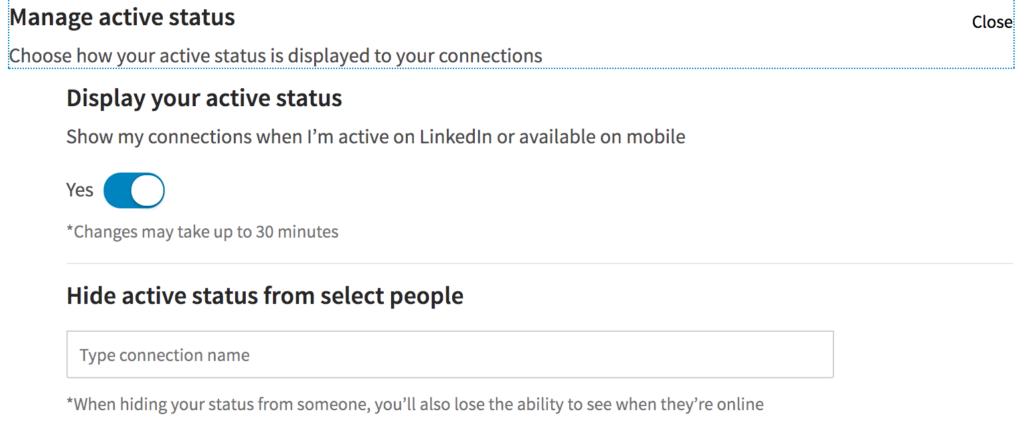 LinkedIn Active Status, come cambiare le impostazioni