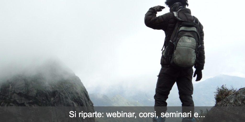 Si riparte!  Webinar, seminari, Bootcamp e…