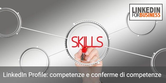 LinkedIn Profile -competenze e conferme di competenze