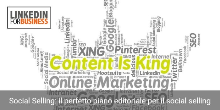 piano editoriale social selling