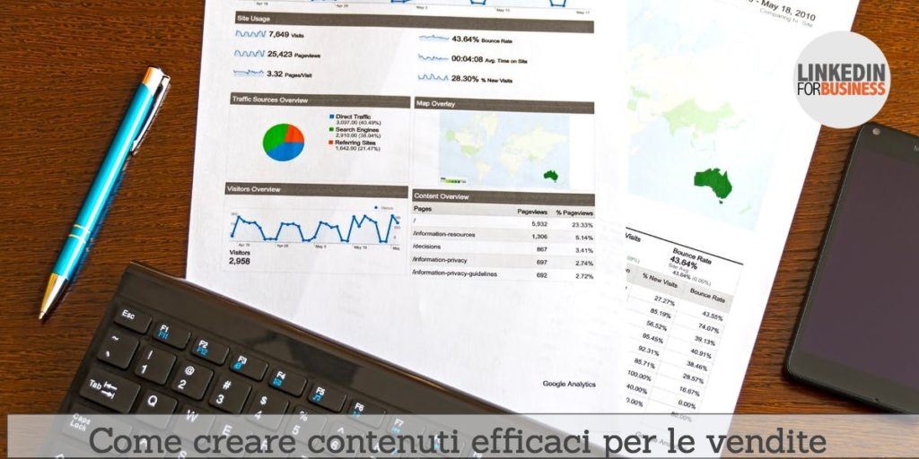 Come creare contenuti efficaci per le vendite
